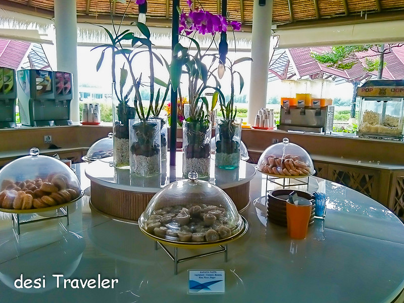 Free food at Koh Samui Airport Thailand