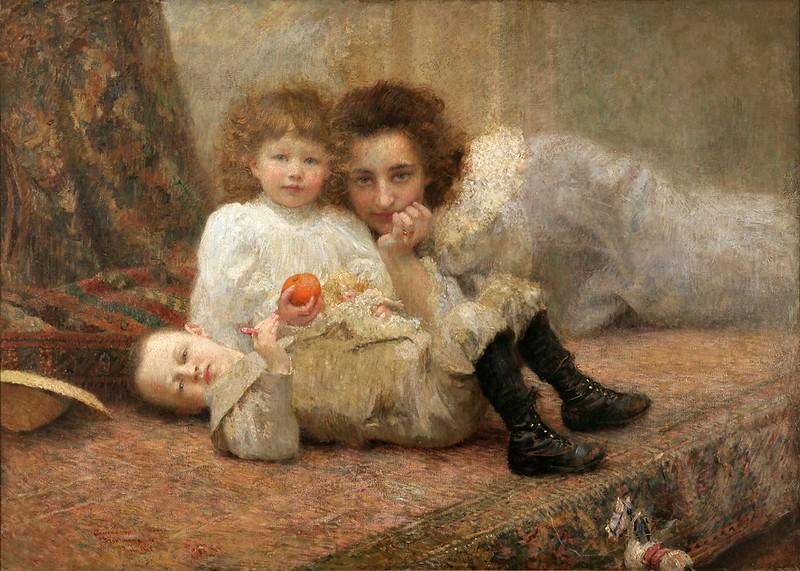 Vlaho Bukovac - Moje gnijezdo (1897)