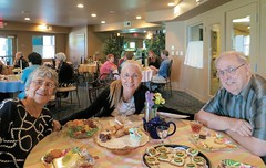 Bahá'ís and guests enjoy fellowship and refreshments in Prescott Valley, Arizona. Photo by Margaret Lambert