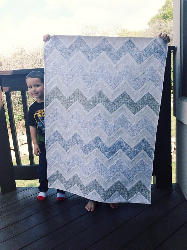 Gray baby quilt