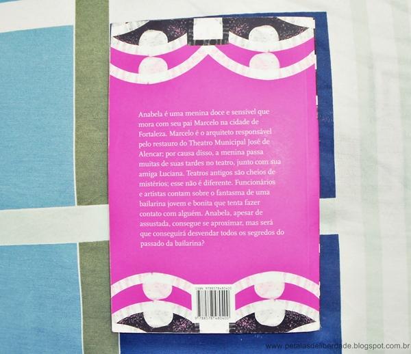 Contracapa, sinopse, livro, A Bailarina Fantasma, Socorro Acioli