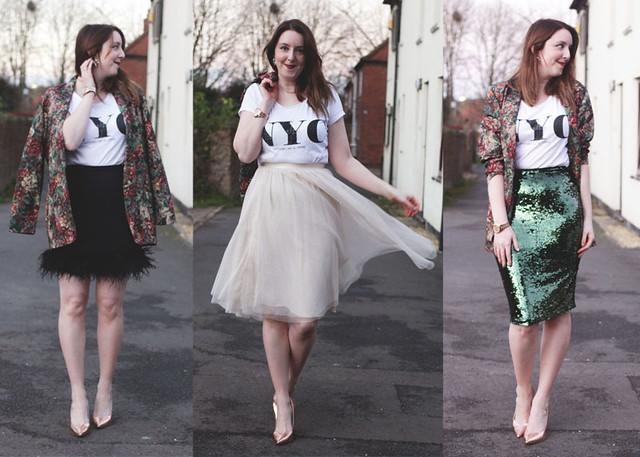 three skirts, three ways