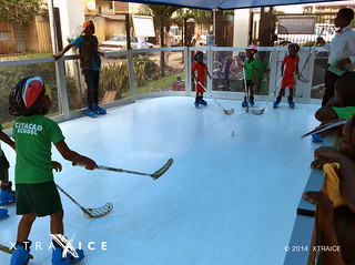 Synthetic ice rink in Nigeria.