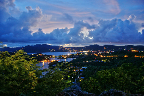 city blue trees sunset summer st night clouds canon landscape outdoors photography lights evening harbor long exposure harbour antigua caribbean dslr falmouth johns barbuda canon40d 114picturesin2014