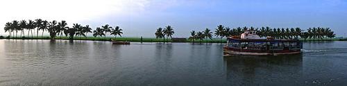 Alleppey, Kerala backwaters panaroma