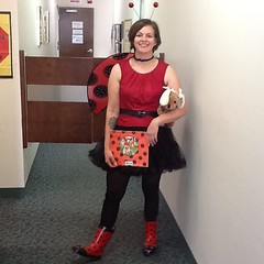 Ladybugs are flying around the library for #Halloween.