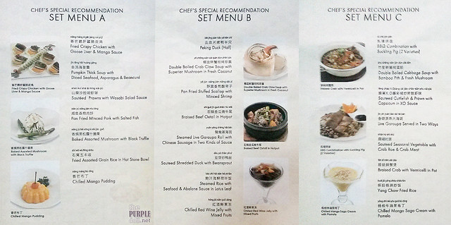 Crystal Jade Dining IN Chef's Special Recommendations (P5,288, P10,800, P12,888)