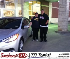 #HappyAnniversary to Shannon Mckenzie on your 2014 #Kia #Forte from Juan   Don Cashat  Reed at Southwest KIA Rockwall!