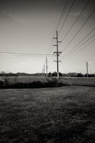 blackandwhite landscape virginia powerline luray erinnshirley