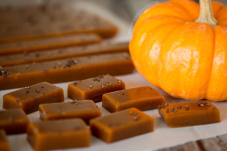 Pumpkin Spice Kahlua Caramels recipe