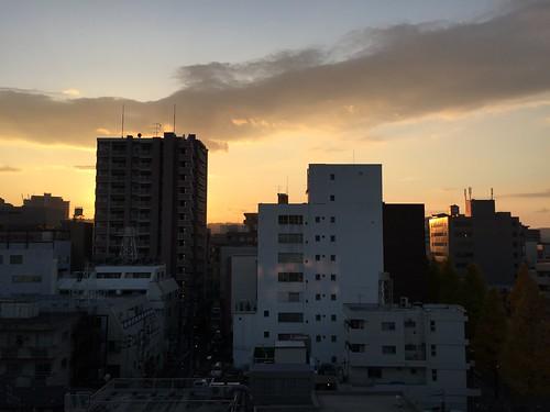 sunset japan sendai miyagi 夕焼け 宮城県 仙台市