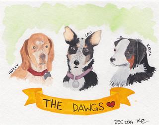 Alicia's 3 dogs
