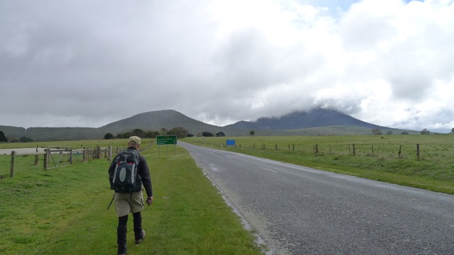 Walking from Dunkeld to the start of Mount Sturgeon Track along Victoria Valley Road