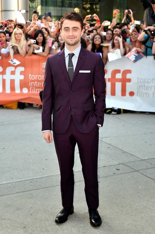 daniel-in-purple-suit,How to style a coloured suit, two-piece suit, purple two-piece suit, deep purple suit, men's purple suit, shirts to wear with purple suit, shoes to wear with purple suits