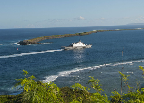 USS Fort Worth (LCS 3) Stops in Guam En Route to Southeast
