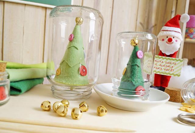 PAP Árvore de Natal Craft - Feltro (com molde)