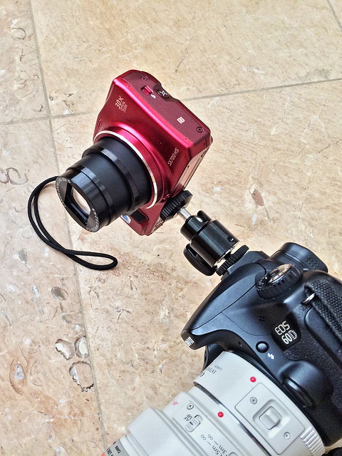 Canon SX 700 HS with tripod extender 20141207