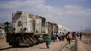 Djibouti train at Ethiopia border, Djibouti