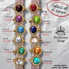 Yummy Birthstone Rings