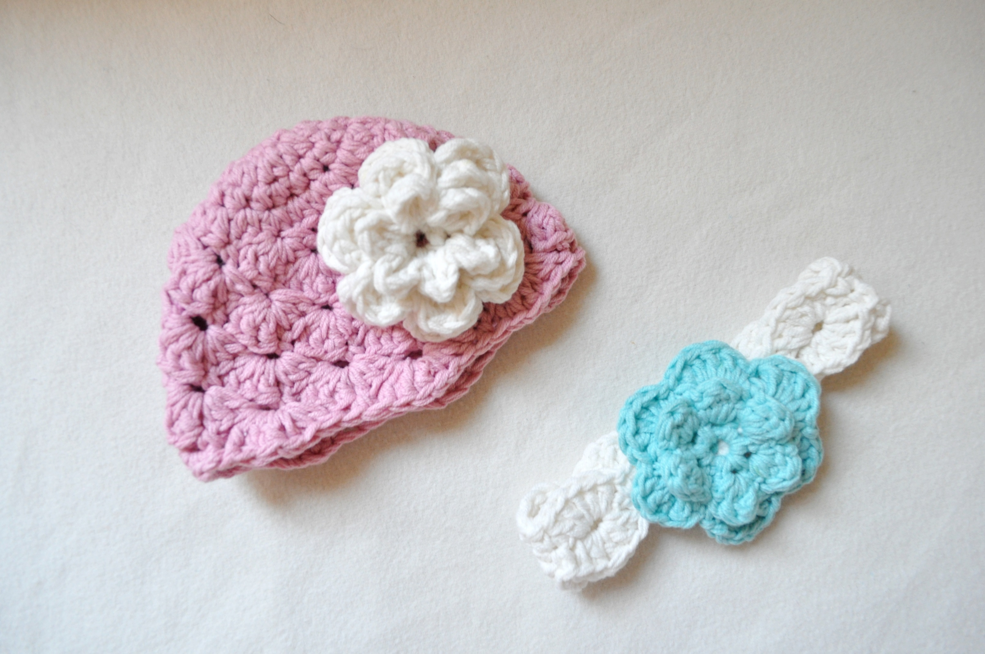 crochet shell stitch newborn hat