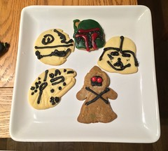 chevy2who has added a photo to the pool:While we were making Christmas cookie I made some Star Wars cookies for the kids.