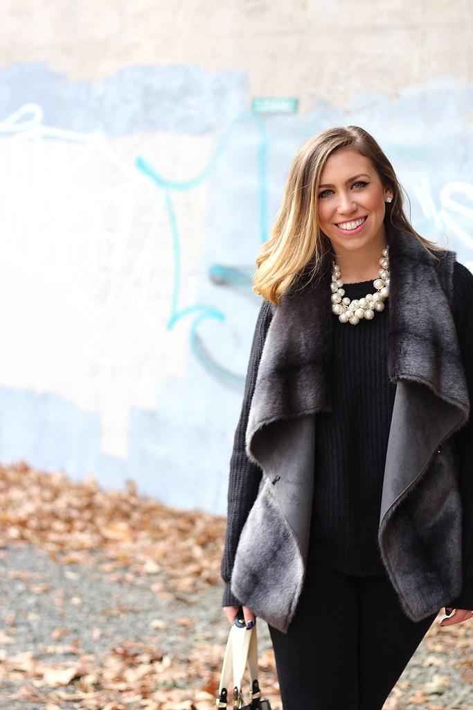 Gray Fur Vest | Zappos | #LivingAfterMidnite