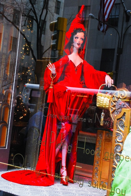 Saks fifth avenue NYC Christmas window displays, Red Riding Hood Fairy Tale
