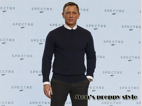 Daniel Craig  in preppy style: Men's preppy style