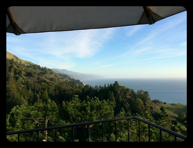 Linner at Nepenthe in Big Sur.
