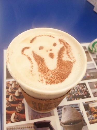 ムンクのカフェラテ
