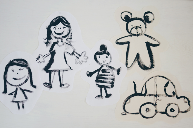 child-drawn softies
