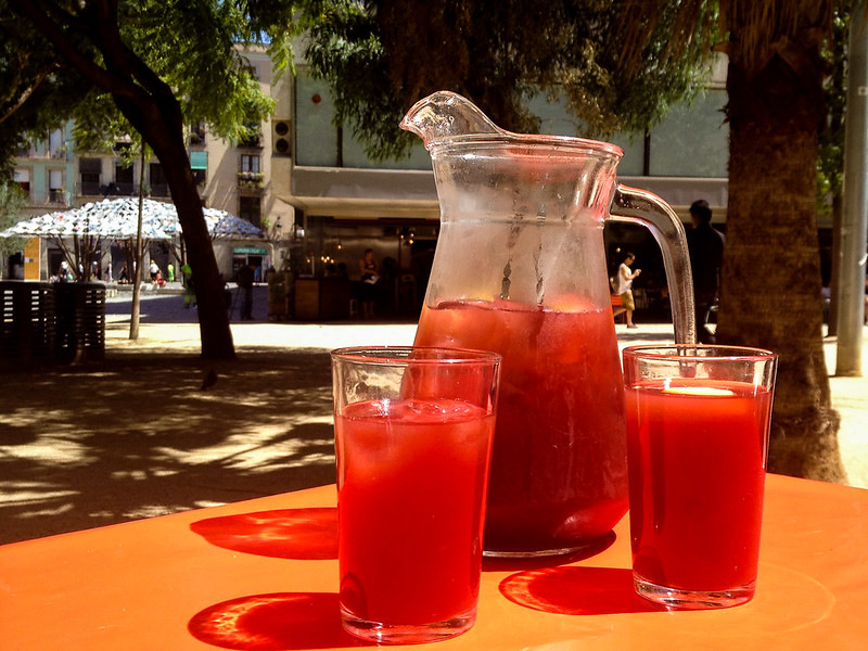 Pitcher of Sangria in Barcelona
