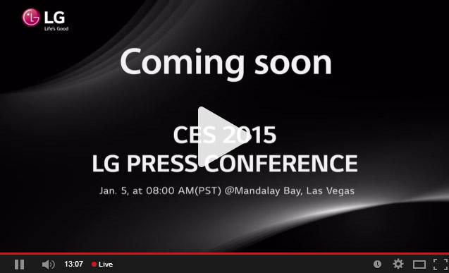 conferinta de presa LG CES 2015