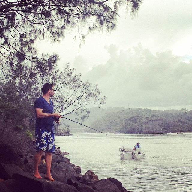 in his happy place #fishing #brunswickheads