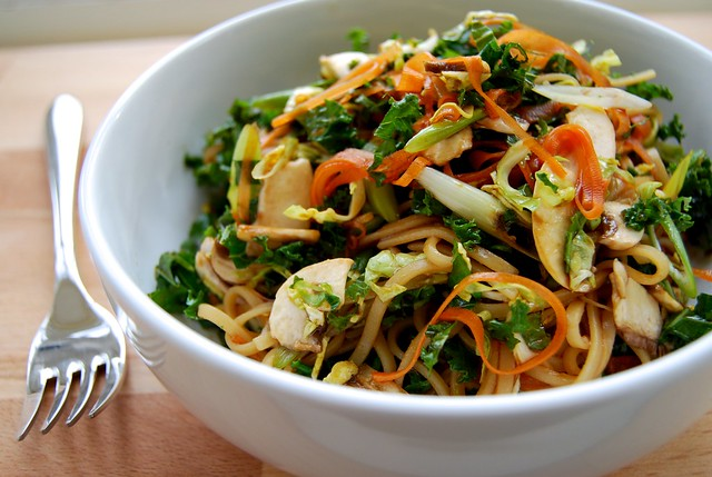 Cold Winter Vegetable Asian Noodle Salad