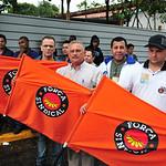 Ato de trabalhadores em Mogi das Cruzes