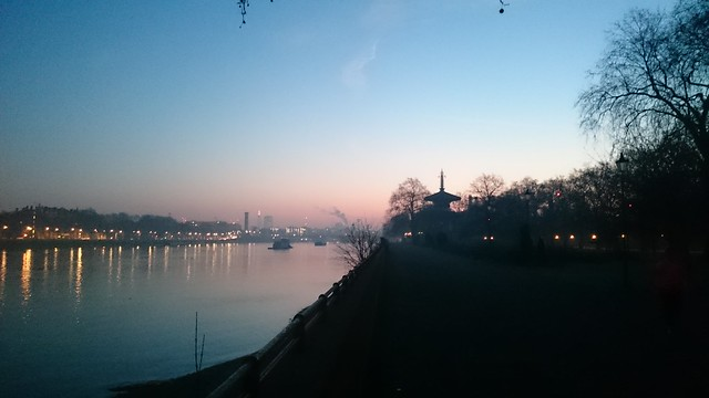 Sunrise over Battersea Park