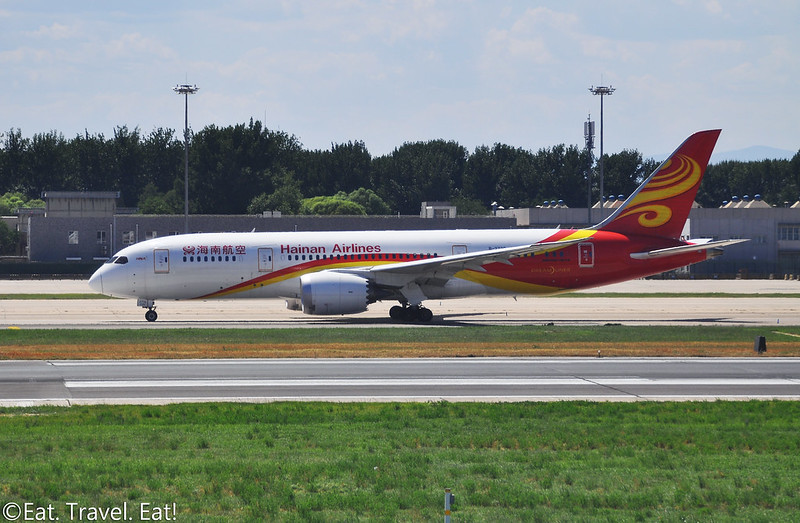 Hainan Airlines 787 at Beijing Capital International Airport (PEK)