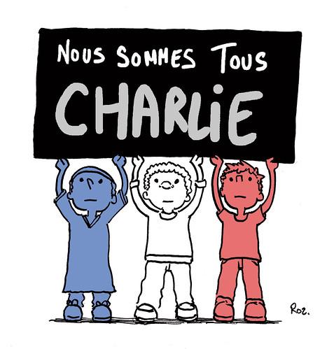 Nous sommes Charlie, par Jeremy Rozier - Les étudiants du CESAN rendent hommage