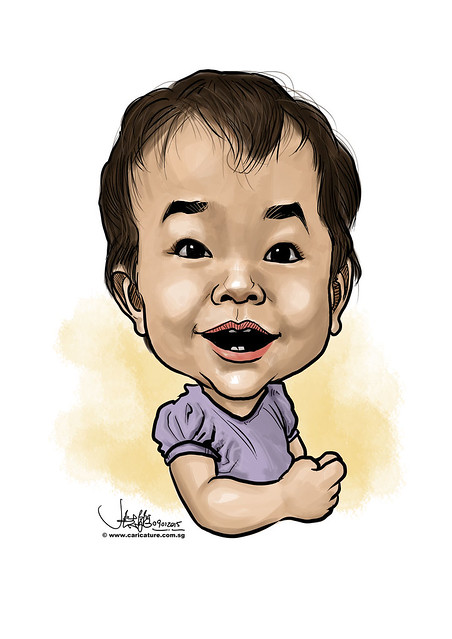 digital caricature of birthday baby - 2 (small)