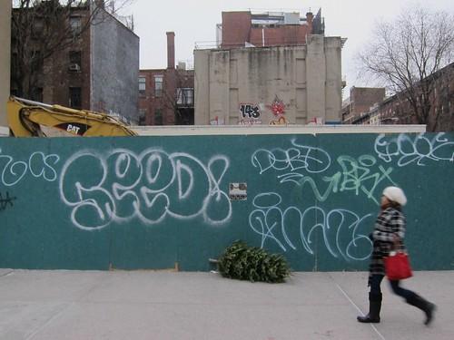 NYC Christmas tree trash