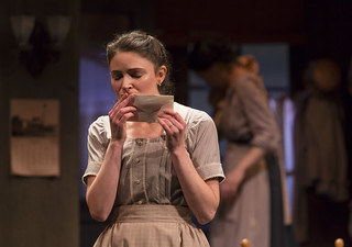 MacKenzie Meehan as Catheleen O'Leary (the 'second girl') in the Huntington Theatre Company production of the moving Irish drama The Second Girl by Ronan Noone, directed by Campbell Scott, playing January 16 – February 21, 2015 at the South End/Calderwood Pavilion at the BCA. Photo: T. Charles Erickson