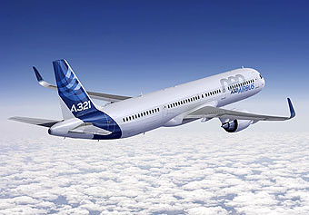 A321neo flying (Airbus)