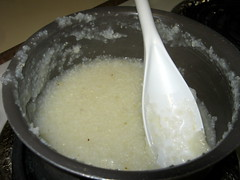 Grits Cooking In A Pan.
