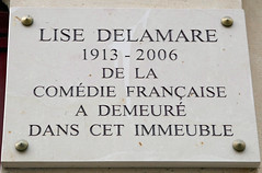 Photo of Lise Delamare marble plaque