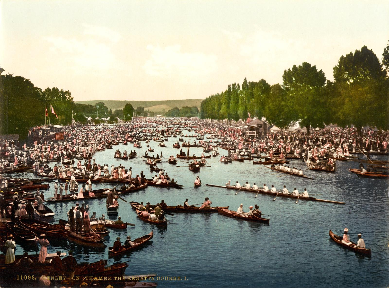 The Regatta course, Henley Regatta, Henley-on-Thames, between 1890 and 1900. Photochrom.