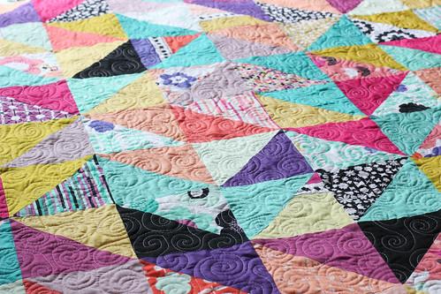 Geometric Bliss Half Squares Quilt