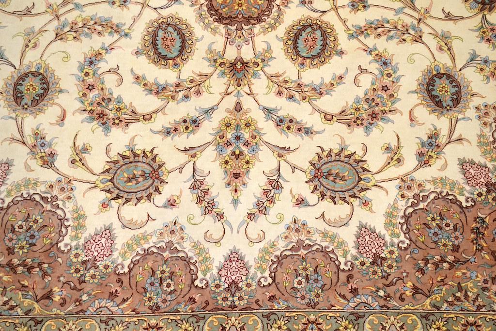 Qum Pure Silk 7x10 Persian Rug (12)