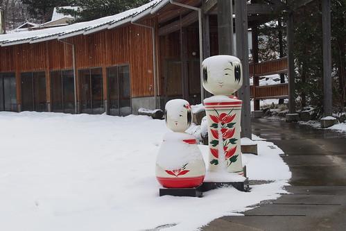 冬の鳴子温泉郷