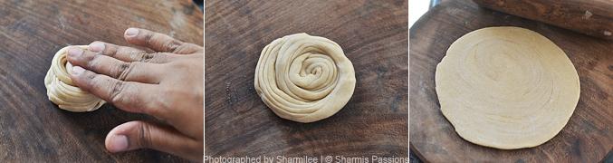 How to make lachha paratha - Step4